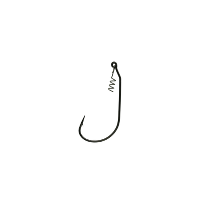 4/0 Black Unweighted Jerk Bait Hook With Corkscrew Keeper