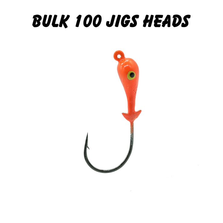 1/8oz 2/0 Double Barbed Jig Heads (Bulk)