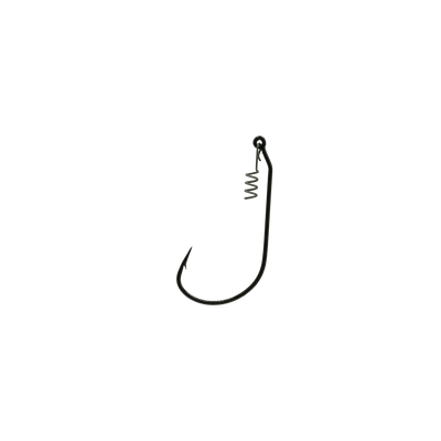 3/0 Black Unweighted Jerk Bait Hook With Corkscrew Keeper