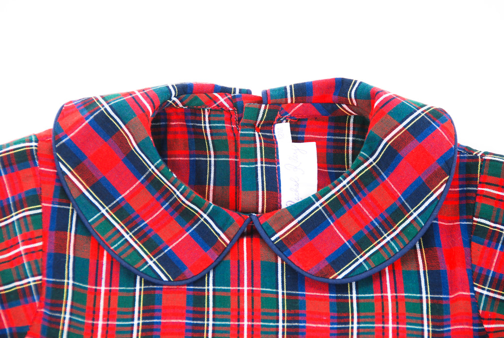 Rachel Riley, Tartan Shirt and Velvet Short Set, 9 - 12 Months