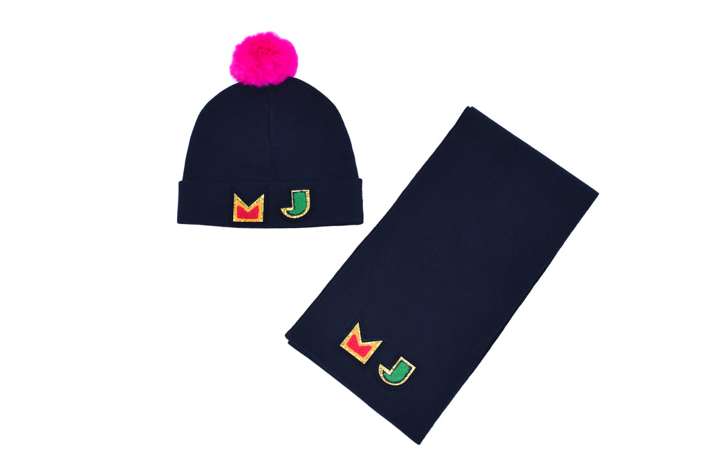 Marc Jacobs, Girls Hat and Scarf Set, Multiple Sizes