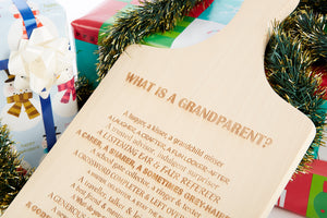 Grandparent Poem Engaved on Chopping Board