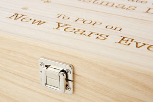 Custom Engraved Two Bottle Wood Gift Box