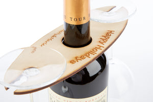 Personalised Over-the-Bottle 2 Glass Holder