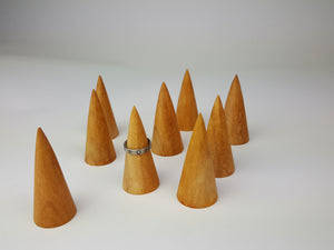 Natural Wood Ring Cone Jewellery Display