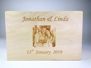Photo Engraved Memory Box
