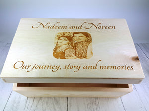 your photo etched onto wood