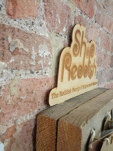 Wood Logo Display Sign - Free Standing or Attachable