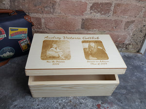 Then and Now Graduation Keepsake Memory Box