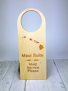 Custom Engraved Wood Door Hanger