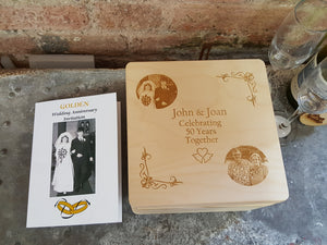 Then and Now Anniversary Keepsake Memory Box