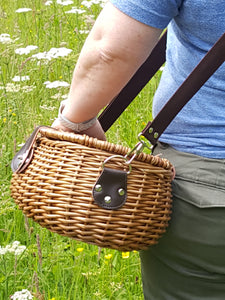 Fishing Tackle Creel or Foraging Willow Basket