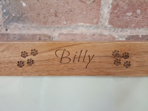 engraved Pets name picture frame