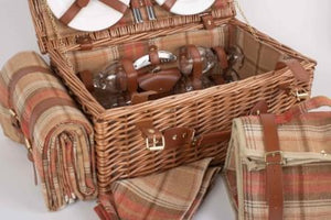 Picnic Hamper 4 Person Auburn Tartan