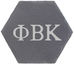 Greek Letters Fraternity Sorority Octagon Slate Coaster