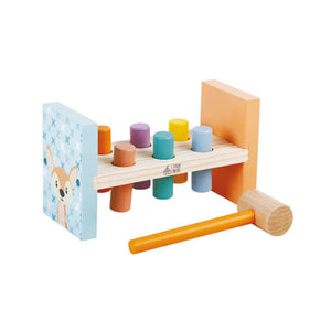 Hammer Bench Pastel Colour Wood Toy