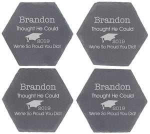 He Thought He Could Personalised Graduation Octagon Coaster