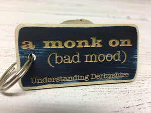 Custom Engraved Souvenier or Promotional Painted Wood Key Fob / Keyring