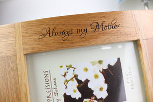 Mother's Day Custom Engraved Picture Frame Gift