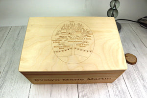 Custom Family Tree Memory Box