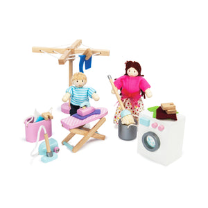 Daisylane Laundry Room Doll House Furniture PlaySet by Le Toy Van