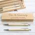 Personalised Wooden Pen & Pencil Box Set
