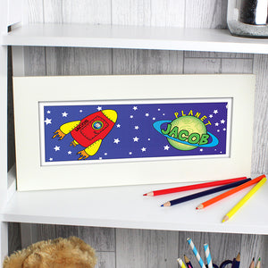 Personalised Space Name Frame - Your Own Planet