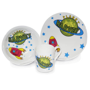 Rocket and Space Theme Breakfast Set