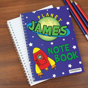 Personalised Space and Rocket Them A5 Notebook