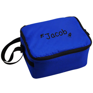 Blue Rocket and Planet Lunch Bag