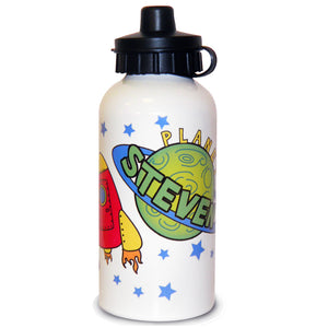 Personalised Space and Rocket Them Water Bottle