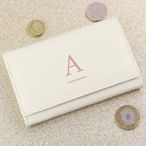 Monogram Cream Leather Purse