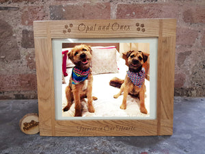 Wooden engraved picture frame