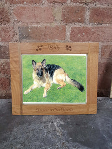 Wooden personalised picture frame