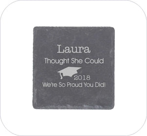 She Thought She Could Personalised Graduation Gift Square Coaster