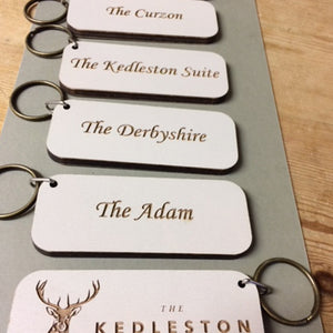 Custom Wood Hotel Key Fobs Keyrings
