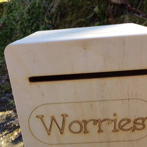 Engraved wooden Suggestions/Letter Box