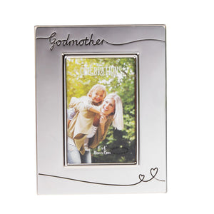 Godmother Silver Plated Picture Frame