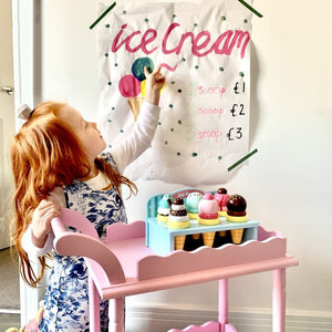 Wood Ice Cream Parlour Set