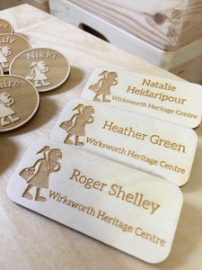 Custom Wood Name Tags