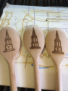 Custom Engraved Wood Table Spoons for Restaurants/Pubs/Cafes