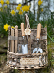 We Miss You, Personalised Garden Gift with Hugs