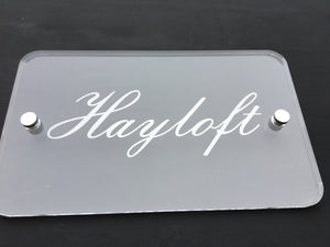 Custom Acrylic Indoor or Outdoor Signs with Standoffs