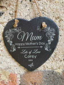 Slate Heart Mothers Day Gift