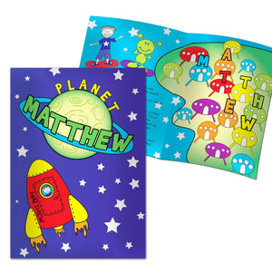 Personalised Space Theme Story Book