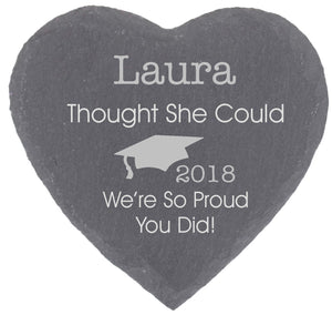 She Thought She Could Personalised Graduation Gift Coaster