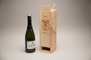 Single Bottle Christmas Gift Box with Cheeky Elf
