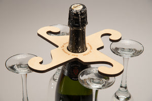 Personalised Over-the-Bottle 4 Glass Holder
