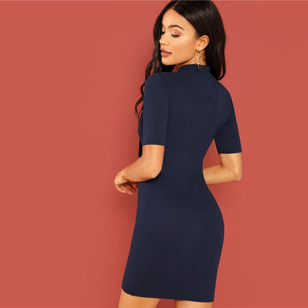 The Navy Zest Dress