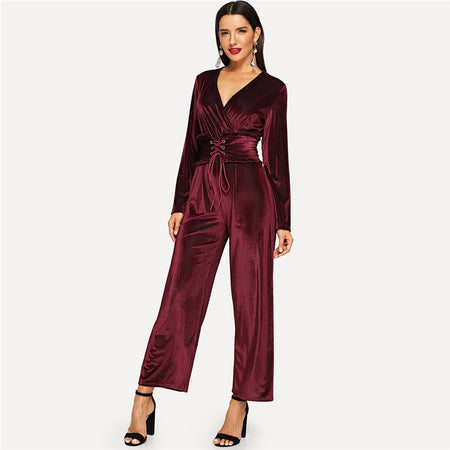 The Persona Jumpsuit in Burgundy